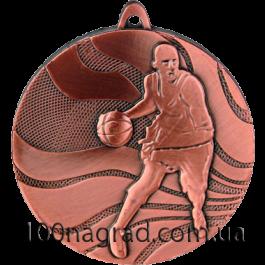 Медаль MMC2150 баскетбол Ø50мм бронза
