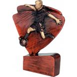 Литая металлизированная статуэтка RFEL5004/B/BR Футбольный стенд H-11,5 см