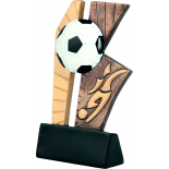 Литая металлизированная статуэтка RSM1613/BR Футбольный стенд H-15 см