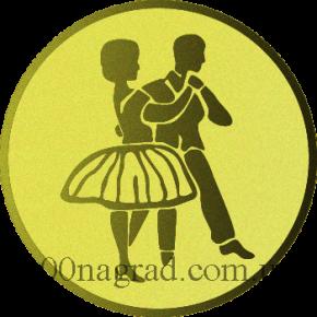 Танцевальная пара жетон  25мм