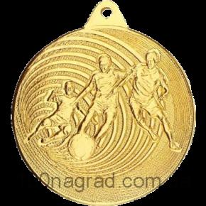Медаль футбол MMC5750\G  Ø50мм