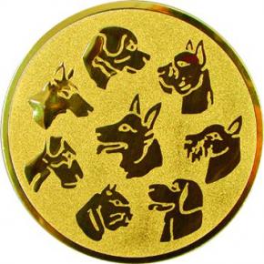 Собаки  А76 G жетон Ø50мм