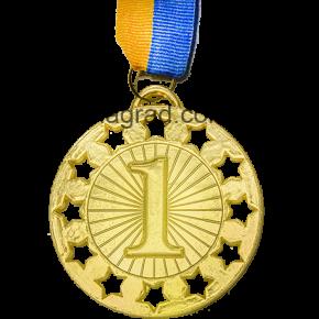 МЕДАЛЬ D64  Ø70мм золото