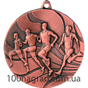 Медаль MMC2350 Бег Ø 50мм бронза