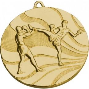 Медаль MMC5250  Ø50 мм Кикбоксинг