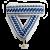 Лента  орнамент, сине-черно-белая 20мм