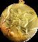 Медаль MMC15-050 Ø50ММ (золото)